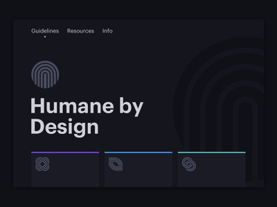 Humane By Design Homepage iconography ethics animation ux vector grid layout design