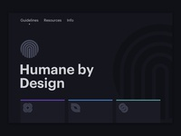 Humane By Design Homepage
