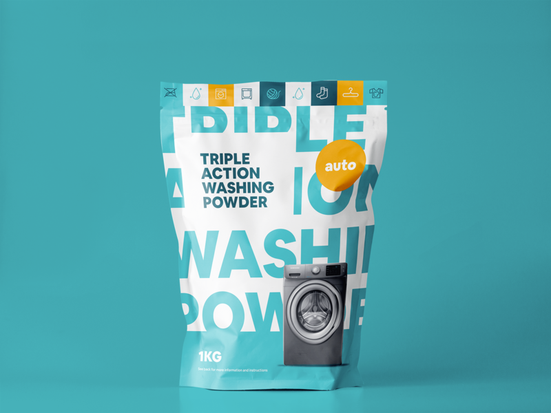 Wade washing powder digital branding typography art typogaphy washing powder packaging design packaging