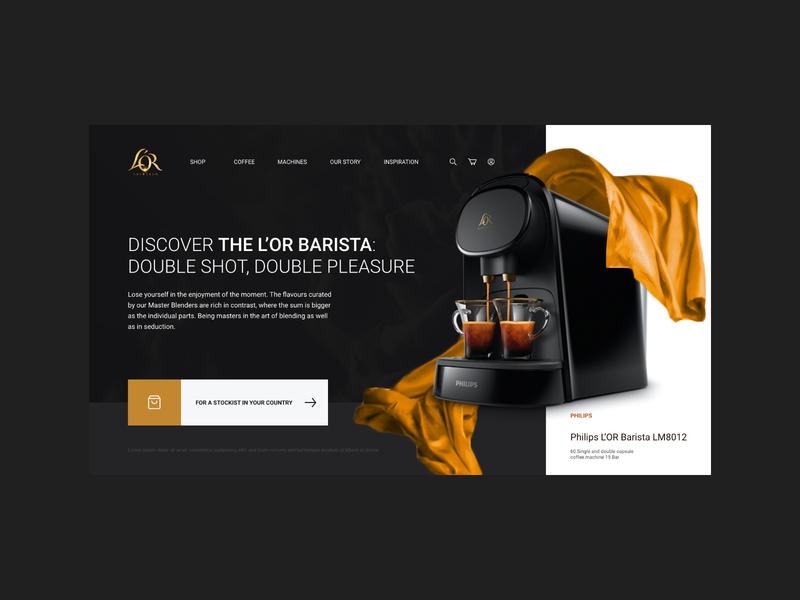 Philips L'OR Barista espresso barista coffee web design inspiration web adobe xd digital design daily ui ui