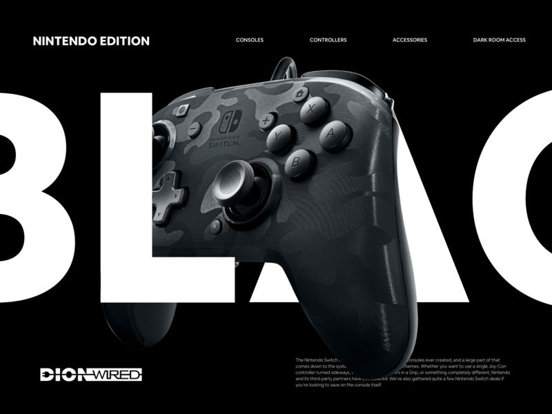 DIONWIRED Blackfriday Microsite web webdesign clean art app digital adobe xd daily ui ui