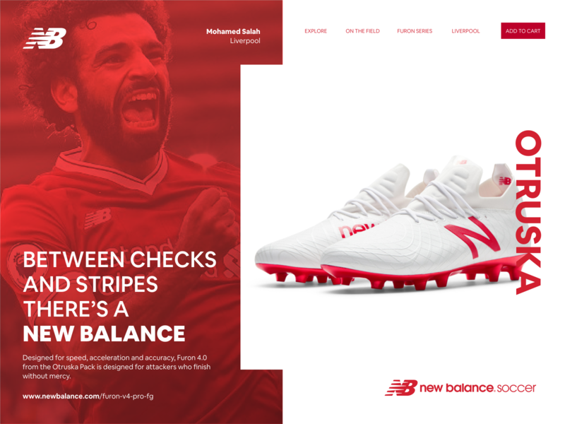 NEW BALANCE - FURON 4 web clean inspiration web design website design daily ui ui