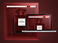 CHANEL N° 5 art web design web digital clean adobe xd design daily ui app ui