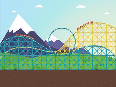 Roller Coaster roller coaster svg animation