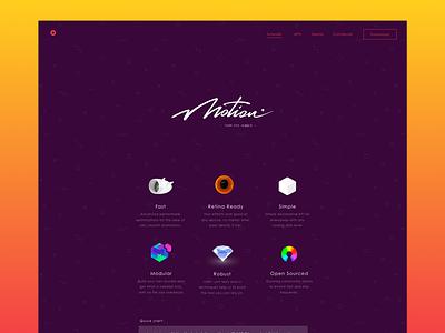 • mo · js • website website webdev css js animation motion