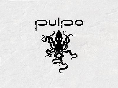 Pulpo Restaurant and Bar Logo Design bar restaurant type mark icon identity branding design logo