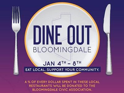Dine Out Event Poster restaurant community fundraiser marketing promotion event design graphic flyer poster