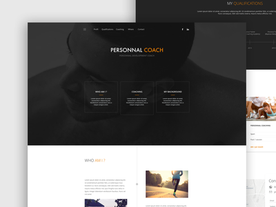 Personnal coach website