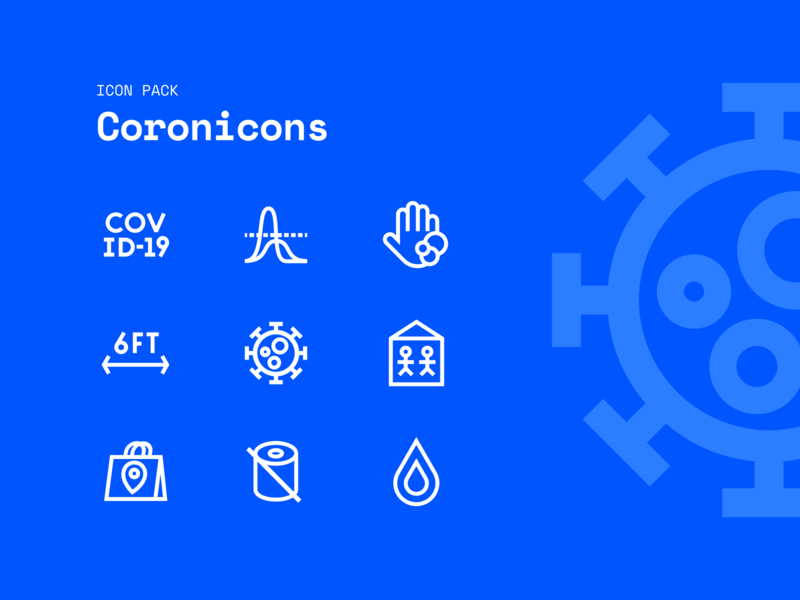 Coronicons Covid-19 Icon Pack
