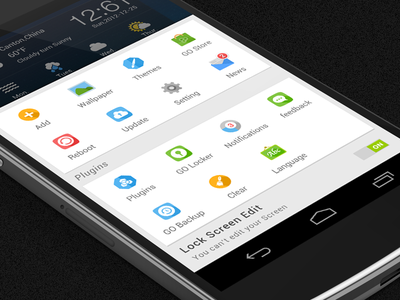 Flat icons for GO Launcher icon go flat colorful
