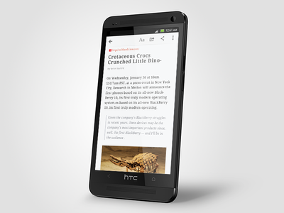 RSS Reader  read font android
