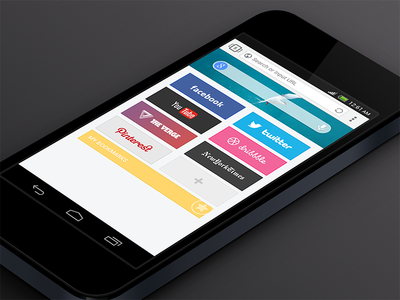 Next Browser Homepage android browser ui