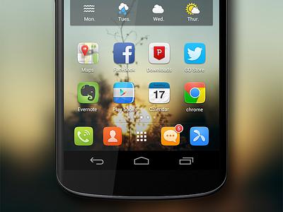 GO Launcher UI 4.0 launcher icon twitter weather ui android nexus