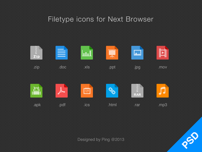 Filetype Icons filetype icon ui psd