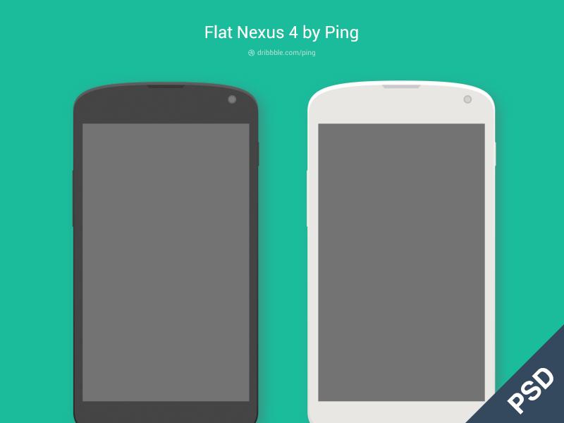Flat Nexus 4 Phone phone flat nexus android