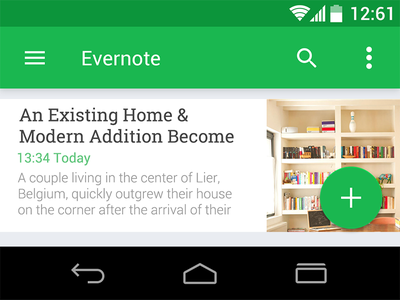 Android L psd kit android design evernote material
