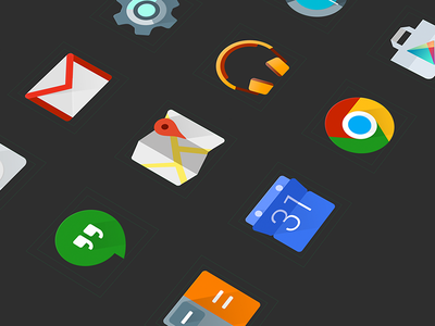 Icons for Android L android,material icon google