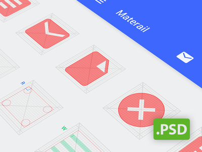 Android Grid Psd (Template for Android L icon) android material icons google template grid