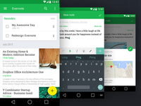 Evernote Redesign , Material Design