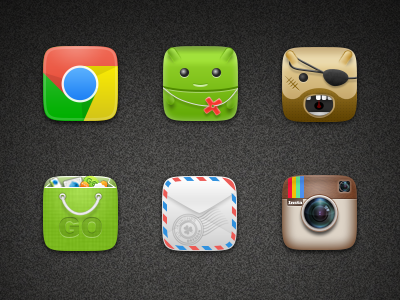 icons ui icon chrome android store instagram mail root