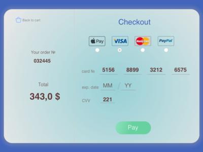 Daily UI #2 / Checkout modal