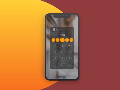 Daily UI #4 / Calculator