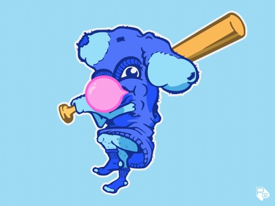 Chicago Blue Sox mascot typography hand lettering baseball sports logo vector illustration illustrator branding