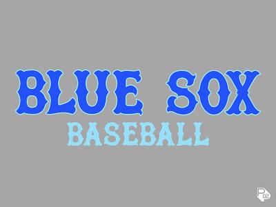 Blue Sox Lettering ball bat chicago typography graphic design hand lettering baseball sports identity vector illustration illustrator branding