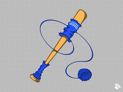 Blue Sox Bat logo design icon graphic design baseball sports logo vector illustration illustrator branding
