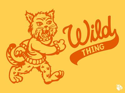 Wildcat tee - Wild Thing kids clothing children clothing design sports texas clothing wildcat hand lettering graphic design identity vector illustration illustrator branding