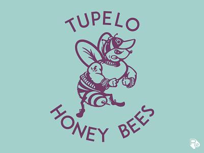 Tupelo Honey Bees tee tupelo honeybee bee clothing design clothing children texas typography hand lettering graphic design identity sports vector illustration illustrator branding