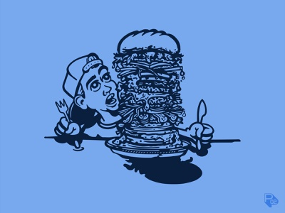 Eating 4 Ezra eating hamburger food charities texas design graphic design identity vector illustration branding illustrator
