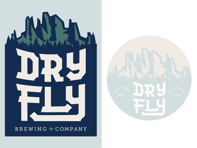 Dry Fly Colorways identity logo branding