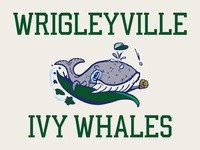 Wrigleyville Ivy Whales