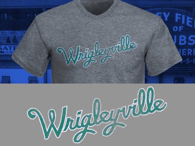 Wrigleyville Whales Script wrigleyville chicago apparel design font lettering hand lettering design typography baseball vector sports illustrator logo branding