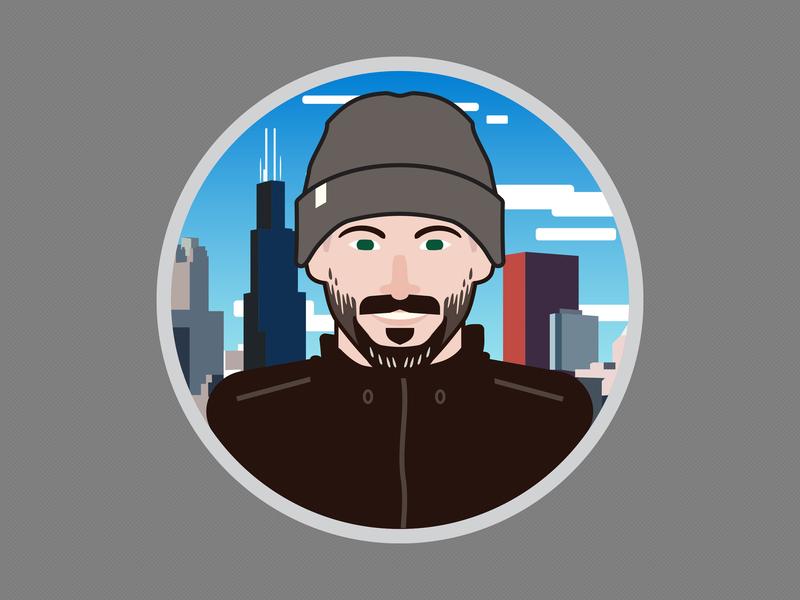 Self Portrait Set - 1 design baseball graphic design sports vector illustrator digital illustration chicago portrait