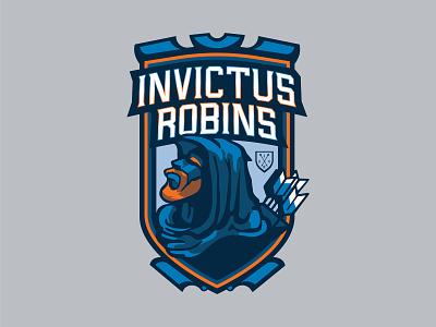 Invictus Robins invictus robinhood mascot mascot design hand lettering design typography lettering graphic design illustration sports vector identity illustrator branding sports logo