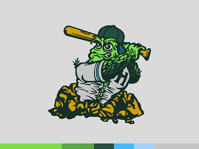 Secondary Finsbury Hops Mascot hand lettering sports graphic design baseball identity logo vector illustration illustrator branding