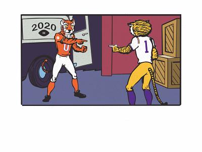 Tigers WIN! meme college football spiderman graphic design sports vector illustration illustrator