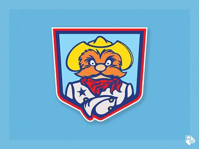Rootin' Tootin' Texas Ranger rangers texas vector baseball sports logo illustration illustrator branding