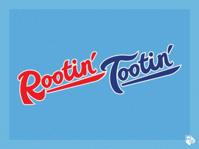 Rootin' Tootin' Wordmark rangers texas baseball sports identity vector illustration illustrator branding