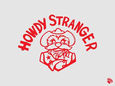 """""""Howdy Stranger"""" rangers texas mlb typography hand lettering baseball sports identity logo illustrator branding"""
