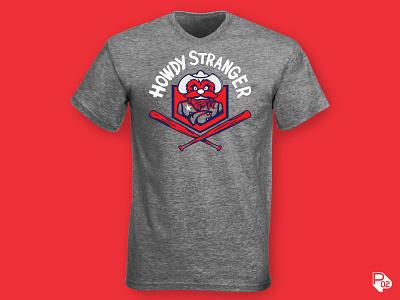 Howdy Stranger Tee Design design texas rangers baseball sports identity logo vector illustration illustrator branding