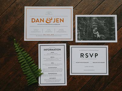 Rudy Wedding modern invitation wedding system foil print