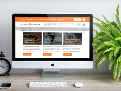 Discover College Covered marketing content vitaminc graduation college ui ux cms discover