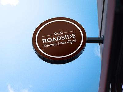 Ford's Roadside Chicken ford nostalgia diner icon chicken branding signage