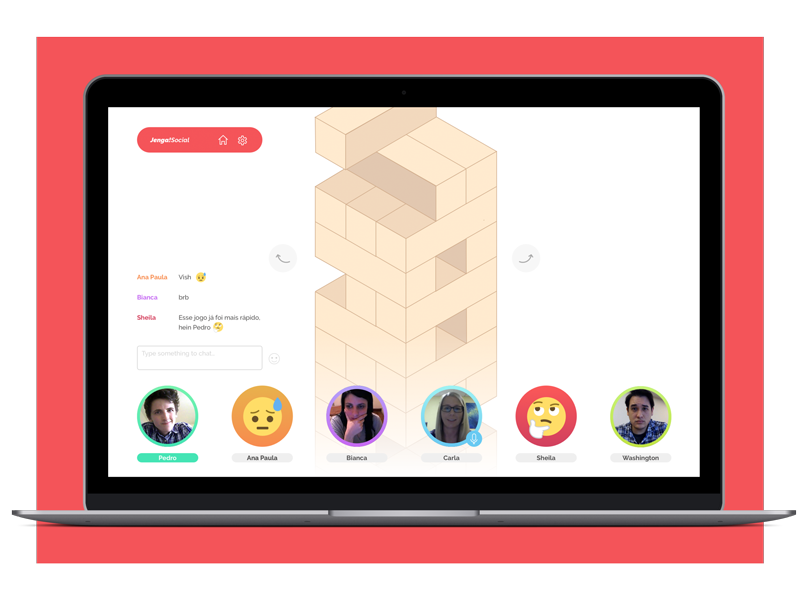 JengaSocial chat game social jenga