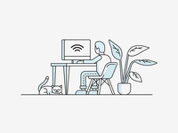 Vivint Internet Illustration
