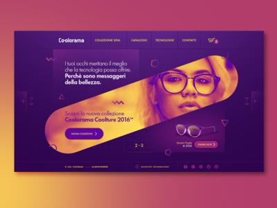 Coolorama - Ui Design photo editing page landing homepage web sunglasses ecommerce webdesign ux uidesign ui interface