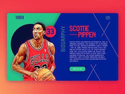 1989 scottie pippen chicago web app sketch interaction user interface ui basket typeface type free